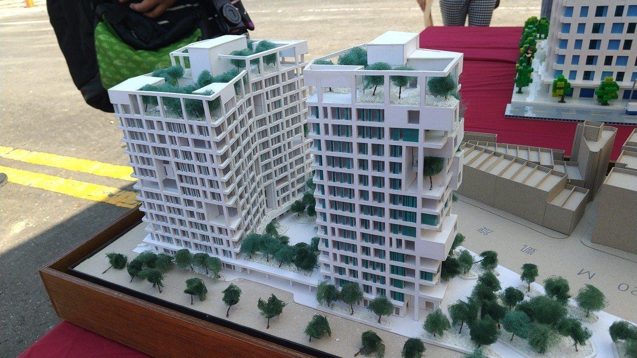 高市府新建社會住宅「凱旋青樹」今下午開工。記者蔡孟妤/攝影