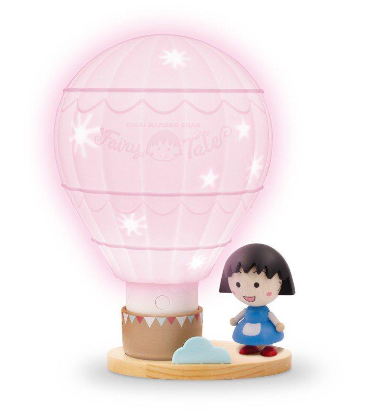 櫻桃小丸子限量熱氣球變色夜燈(公仔需另外集點兌換),集滿6點加499元可兌換,限...