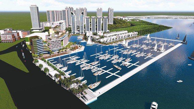 亞果安平遊艇城3D示意圖。 許清俊建築師事務所設計團隊