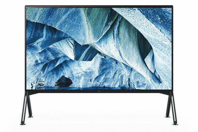 SONY於CES發表的最新一代8K電視Z9G。 圖/各業者提供