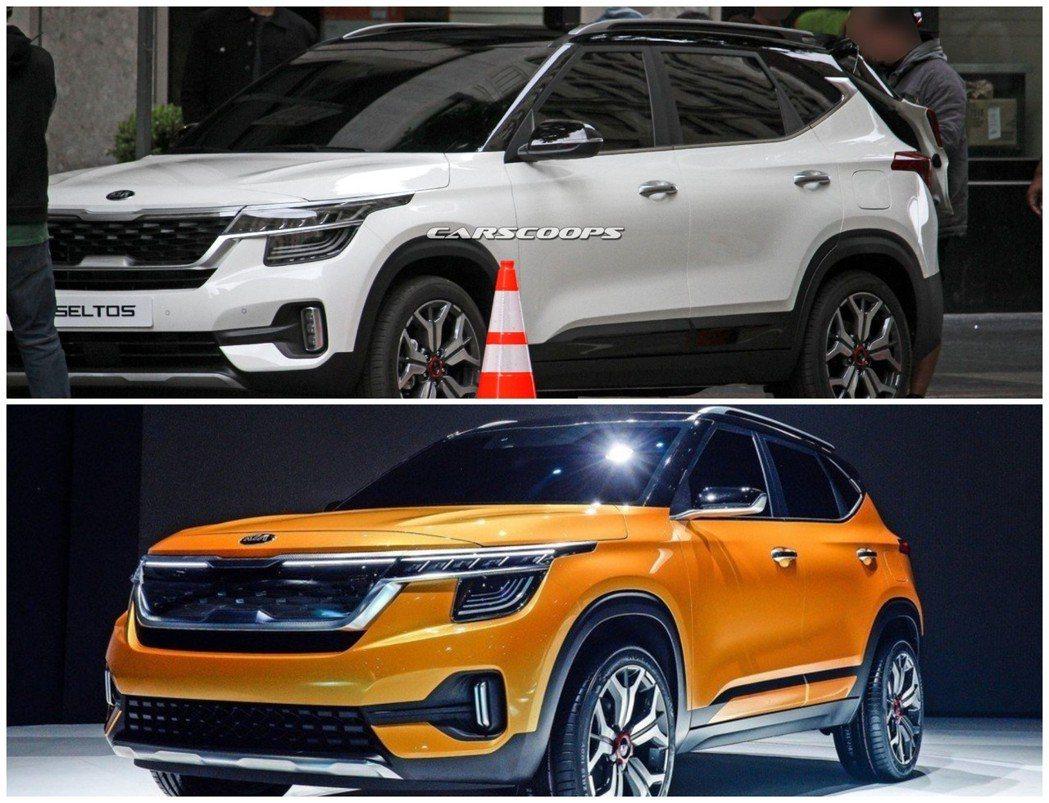全新Kia Seltos與SP Signature Concept的外觀造型,可...