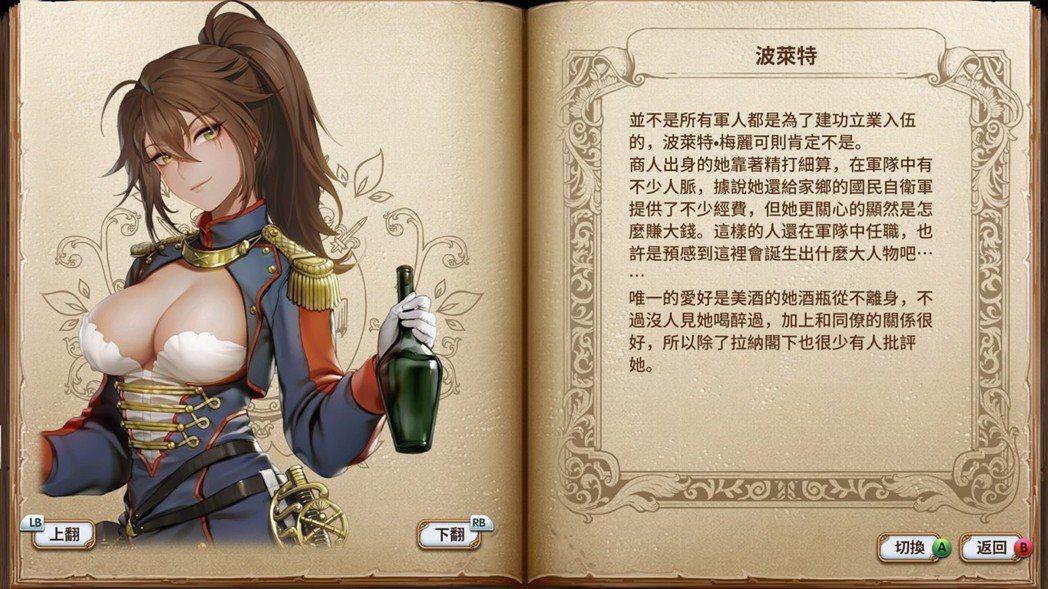 就連遊戲裡的人物說明也都是中文,可以好好鑽研一番。遊戲雖便宜,但內容可是非常充實...