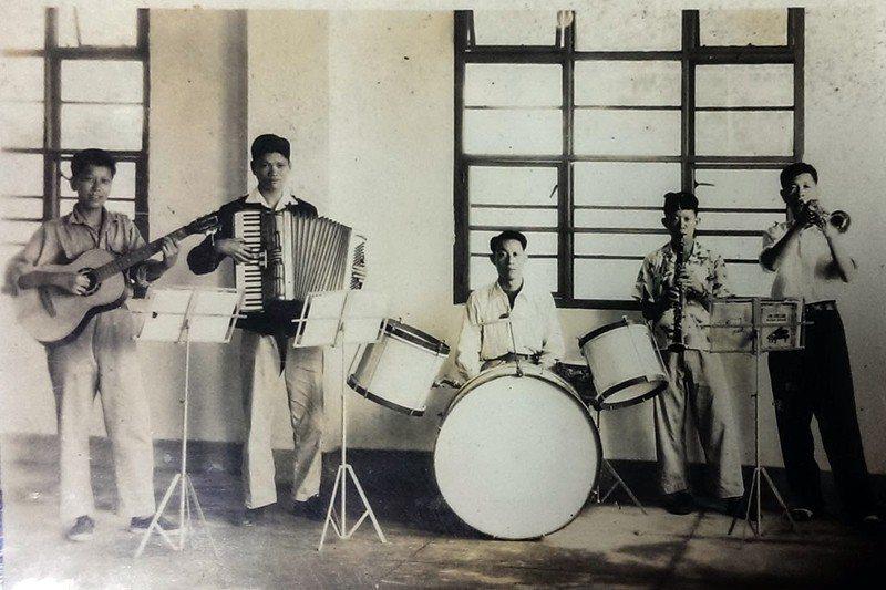樂生療養院民曾自組鼓吹隊、樂隊。 圖/台博館提供