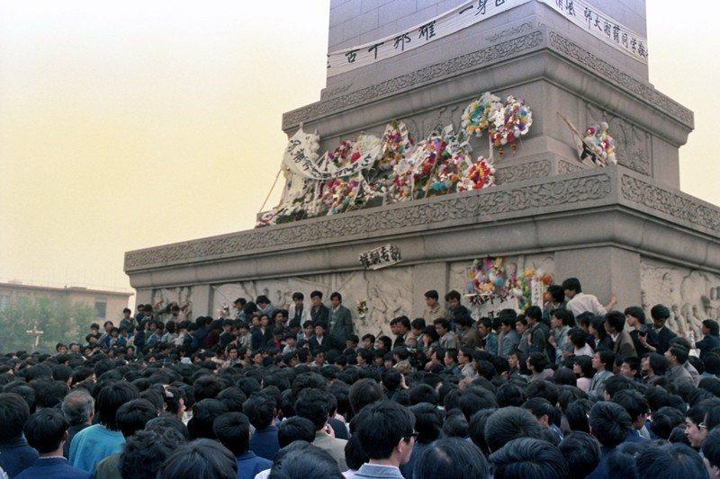 攝於1989年4月19日,北京天安門。 圖/聯合報系資料照