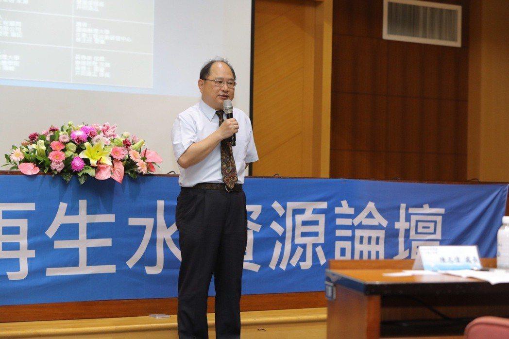 內政部營建署下水道工程處長陳志偉開幕致詞。 嘉藥/提供