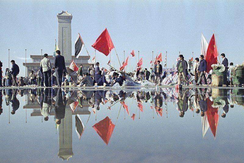 攝於1989年5月24日,北京天安門。 圖/美聯社