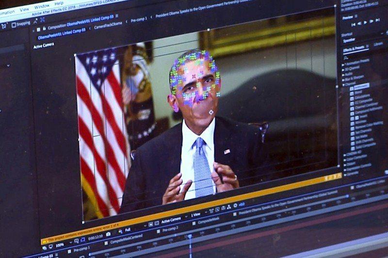 透過深度偽造技術,歐巴馬可以說出他從未說過的話。 圖/美聯社