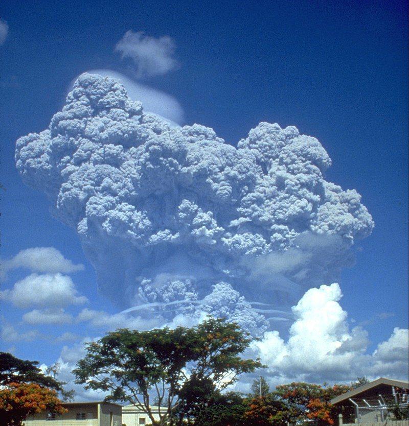 1991年菲律賓皮納土波火山噴發。 圖/維基共享