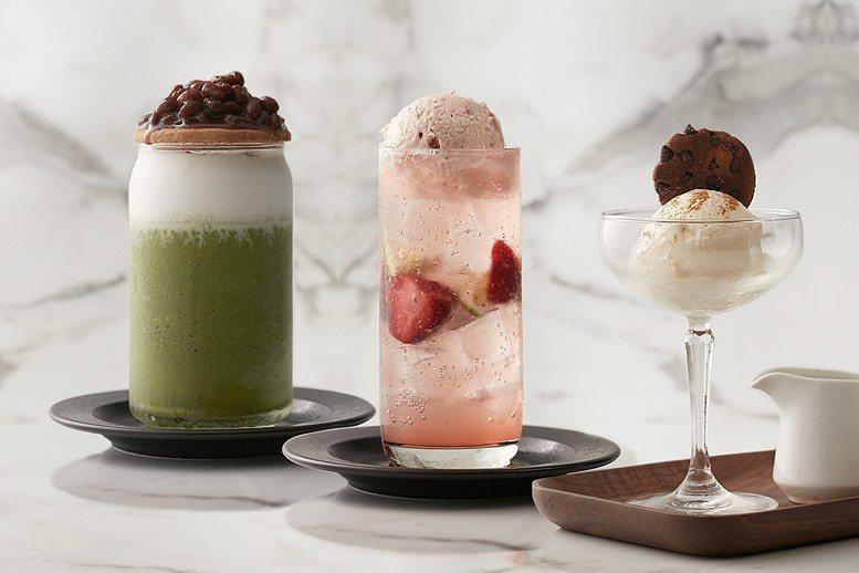 以抹茶、草莓、香草三款風味冰淇淋設計的夏日消暑飲品,對女性消費者有著一股魔力。 ...