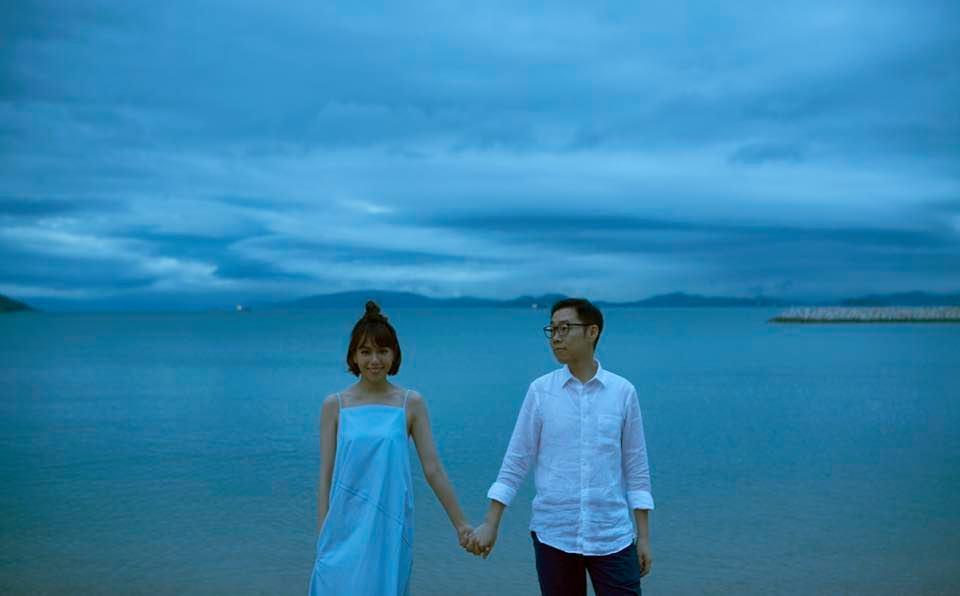34歲夏于喬宣告嫁給大9歲導演林書宇,在臉書秀出絕美婚紗照。圖/摘自臉書