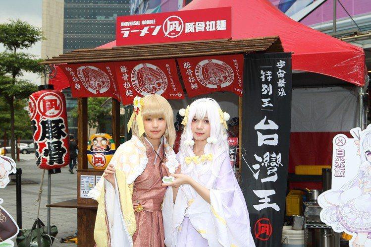 凪於Neo 19廣場設有快閃店,讓民眾試吃台灣王拉麵。記者陳睿中/攝影