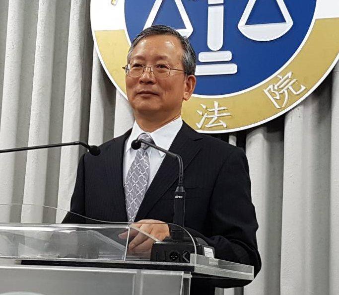 司法院秘書長呂太郎說明釋字777號解釋。記者王宏舜/攝影