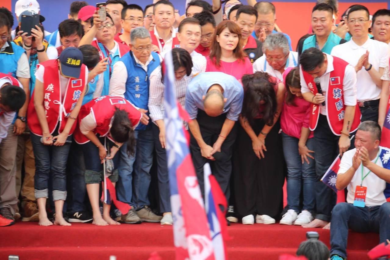 韓國瑜對於韓粉被抹黑向支持者道歉。記者林澔一/攝影