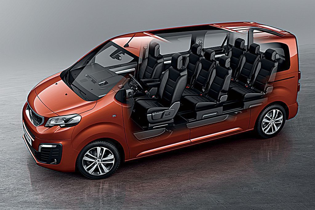 Peugeot Traveller長軸車型最多可承載9人,動力搭載2.0L渦輪柴...