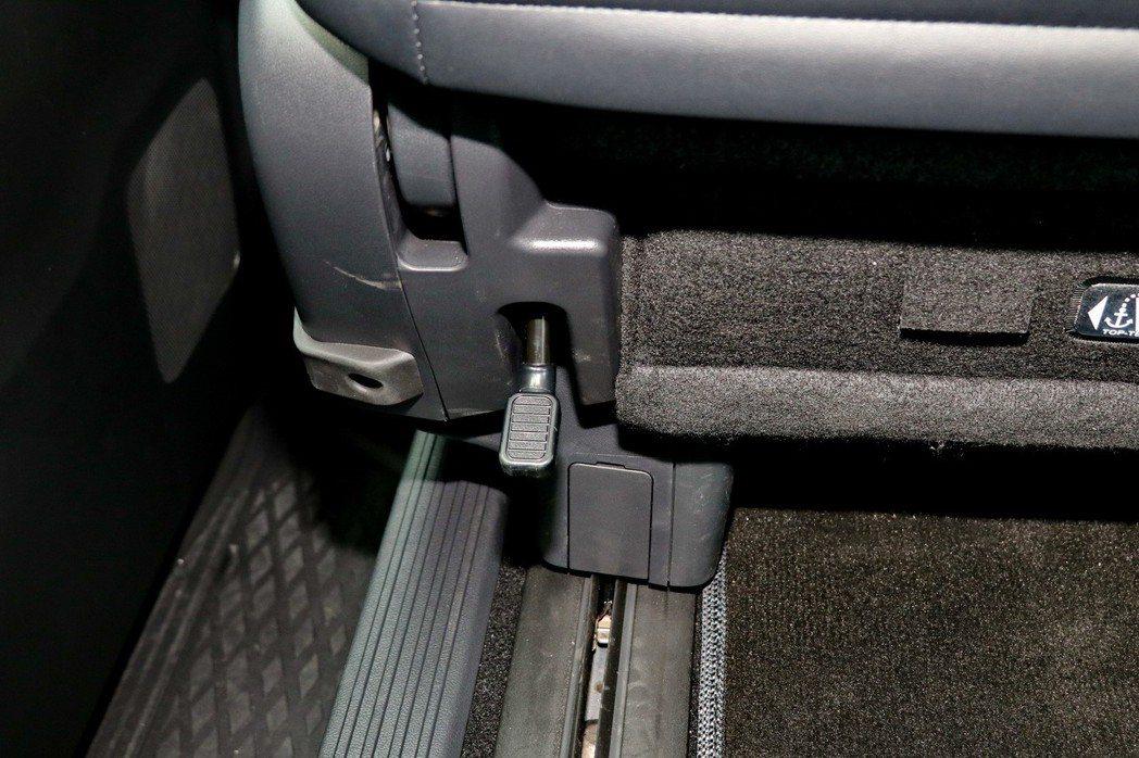 座椅後方也提供拉桿,方便後座乘客滑移前方座椅。 記者陳威任/攝影