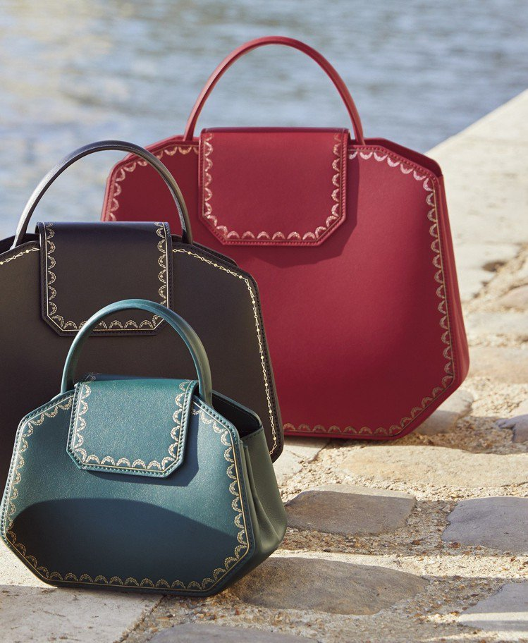 Guirlande de Cartier 小牛皮手提包,62,500元起。圖/卡...