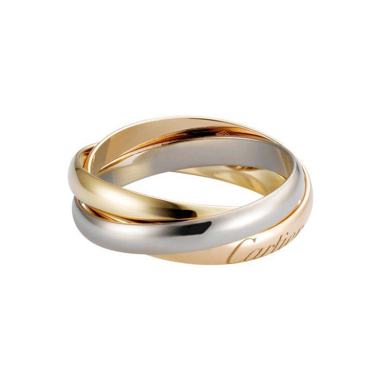 Trinity de Cartier 系列戒指經典款,白K金、玫瑰K金及黃K金,...