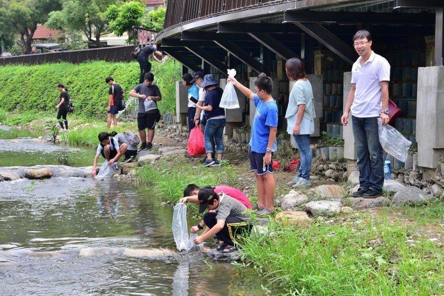 黎明溝環境教育研習活動。圖/台中市水利局提供
