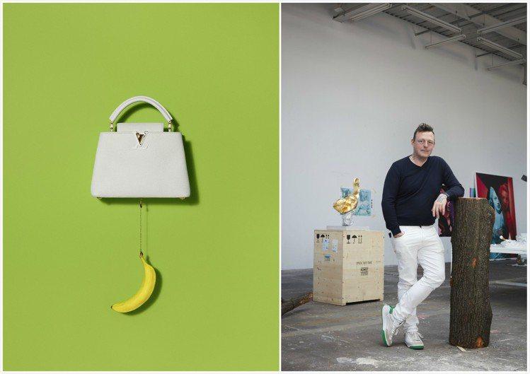 烏爾斯.費雪打造的Arty Capucines可替換手工水果與蔬菜。圖/皆為LV...