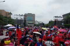 韓國瑜凱道造勢現場 2點稱破12萬人準備唱夜襲