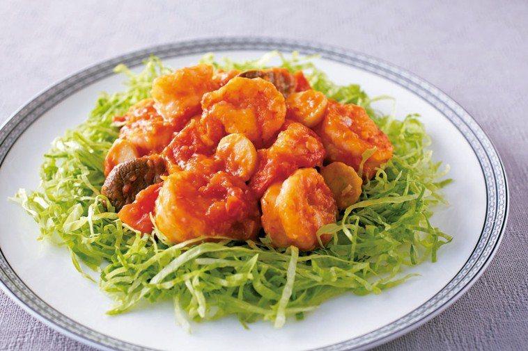 乾燒蝦仁 圖/摘自山岳出版《減鹽料理可以這麼好吃》