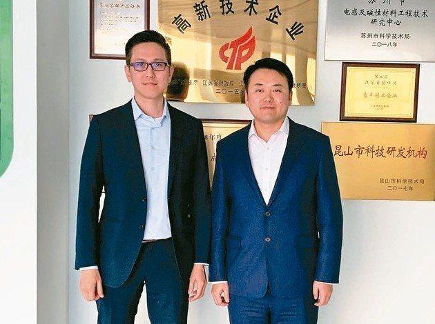 瑪冀電子總經理趙宜泰(右)與副總經理程彧倞 瑪冀電子/提供