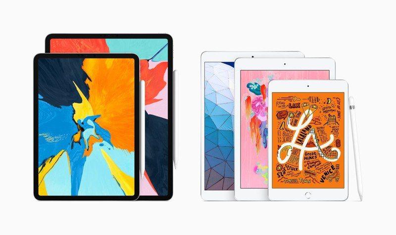 新款iPad mini與iPad Air正式在台上市,iPad產品線陣容目前最齊全。圖/蘋果提供