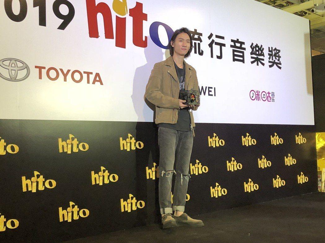 柯智棠拿下「hito唱作男聲」。記者林士傑/攝影