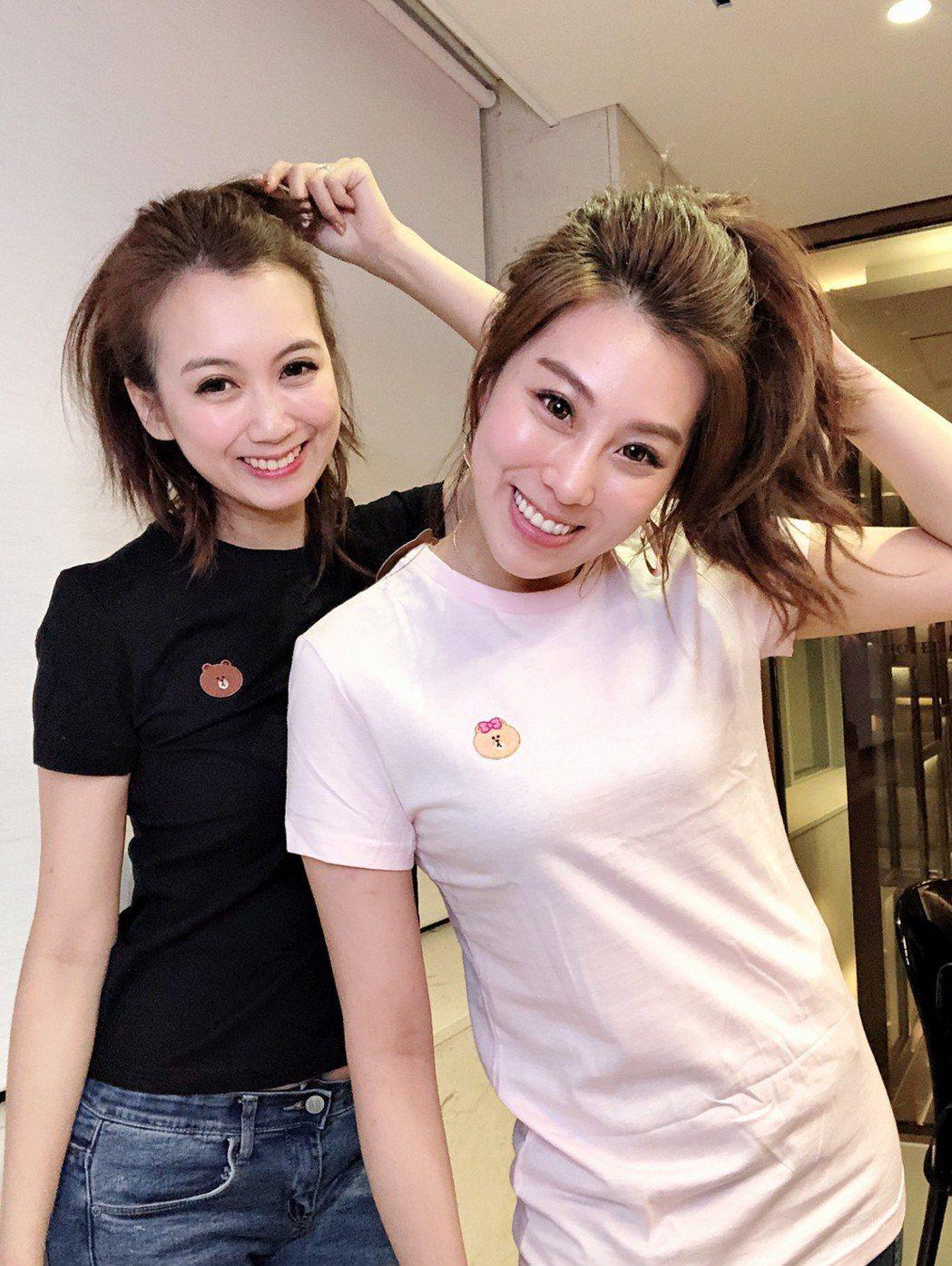 小延(左)與小沛前進韓國首爾直播。圖/翰成數位直播提供
