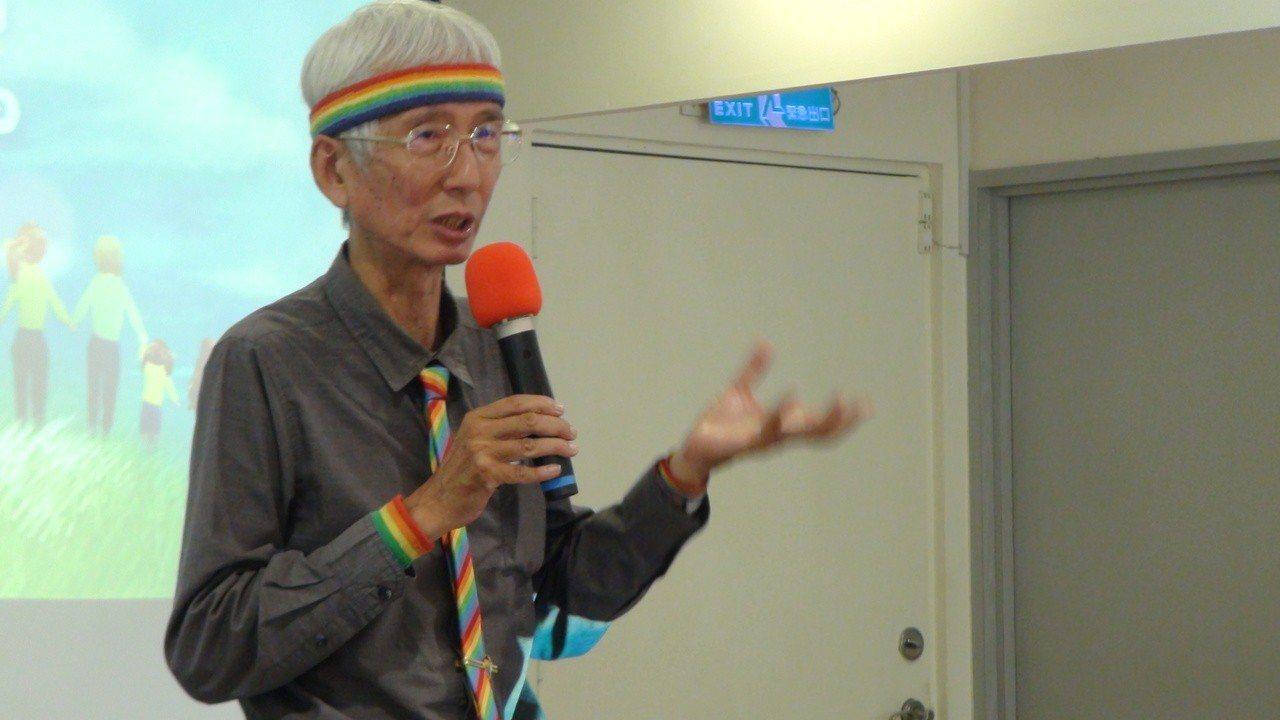 祁家威到高雄分享同志平權心路歷程,談起青少年同性戀感慨多。記者謝梅芬/攝影