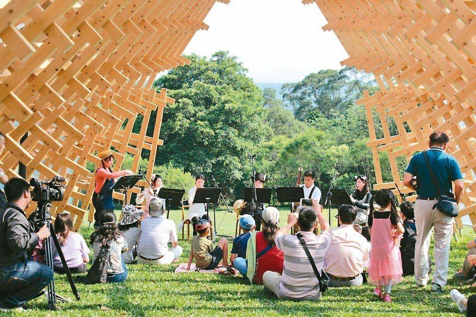 南園曾經舉辦大小孩童樂會,邀請花格子木管五重奏演出(圖)。 The One/提供
