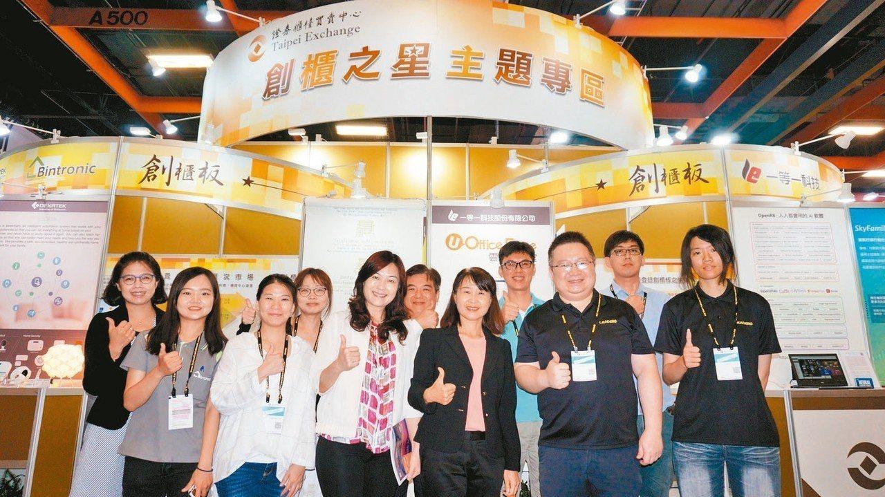 櫃買中心帶領創櫃板公司參加「2019台北國際電腦展InnoVEX新創特展」,積極...