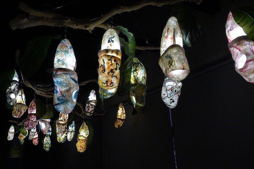林雅惠於新北市藝文中心展出之作品—蛹之森。 新北市文化局/提供