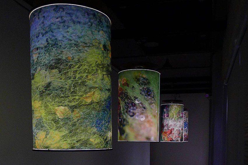 林雅惠於新北市藝文中心展出之作品—氈光場域。 新北市文化局/提供