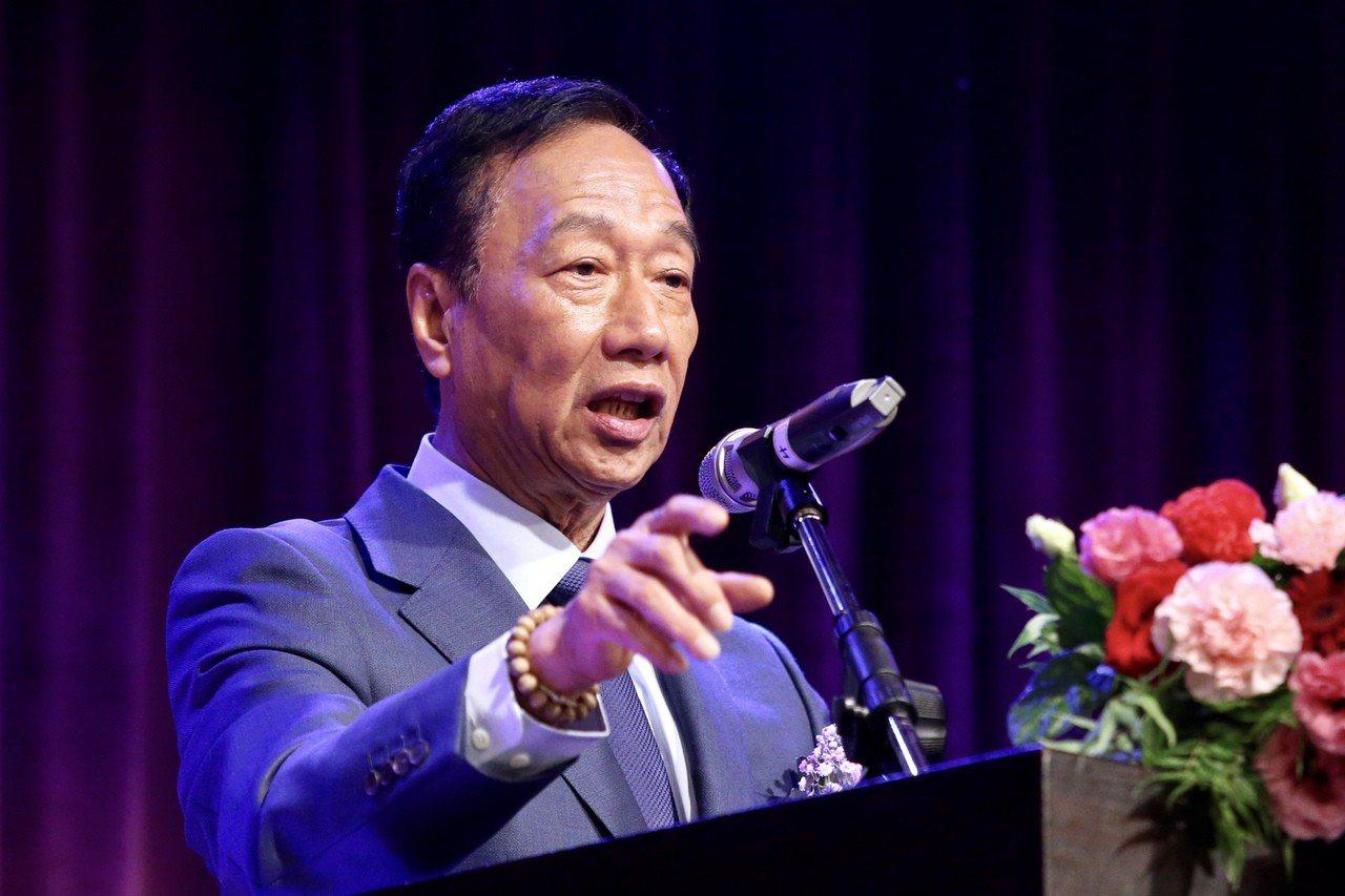 鴻海董事長郭台銘。 聯合報系資料照片/記者林伯東攝影