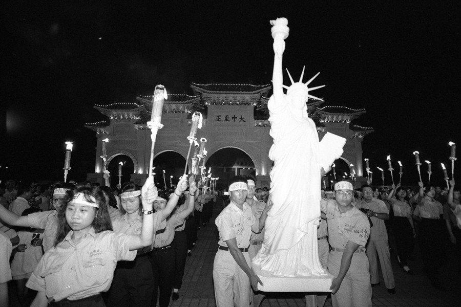 攝於1989年6月9日,中正紀念堂。 圖/聯合報系資料照