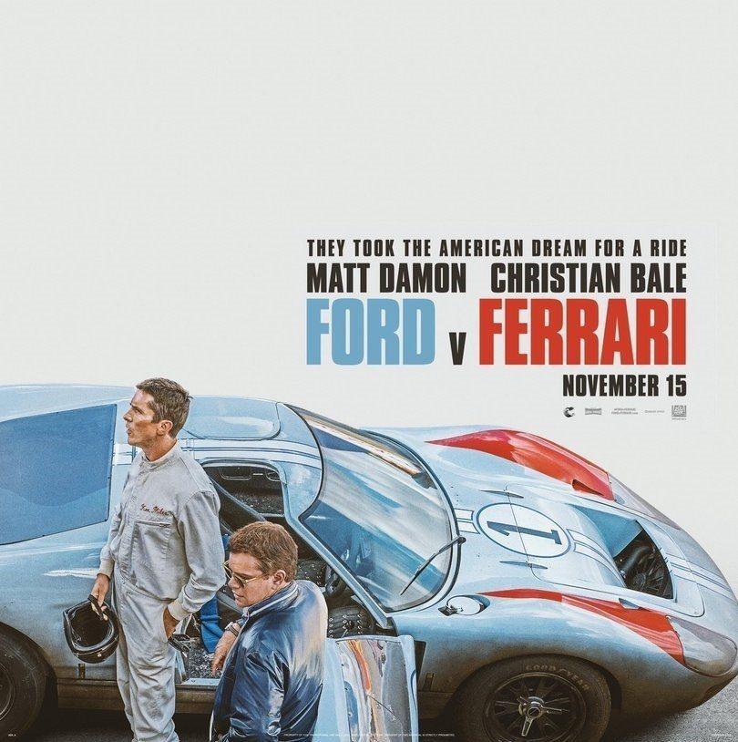 兩大男星重現1960年代利曼24耐賽事。 摘自20th Century Fox