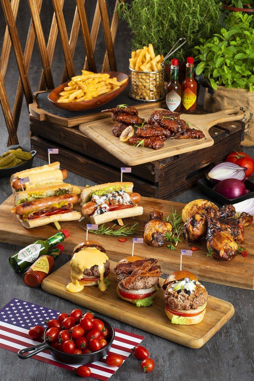 遠東Café 夏日美式炭烤派對美式佳餚豪邁盡享。香格里拉台北遠東國際大飯店/提供