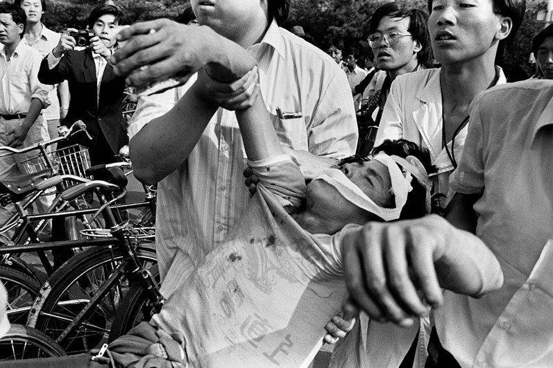 攝於1989年6月3日,北京天安門。 圖/路透社