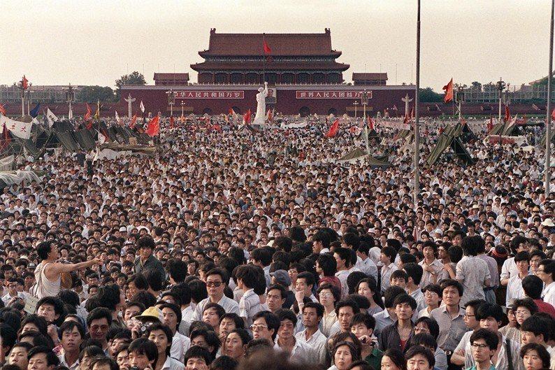 攝於1989年6月2日,北京天安門。 圖/法新社