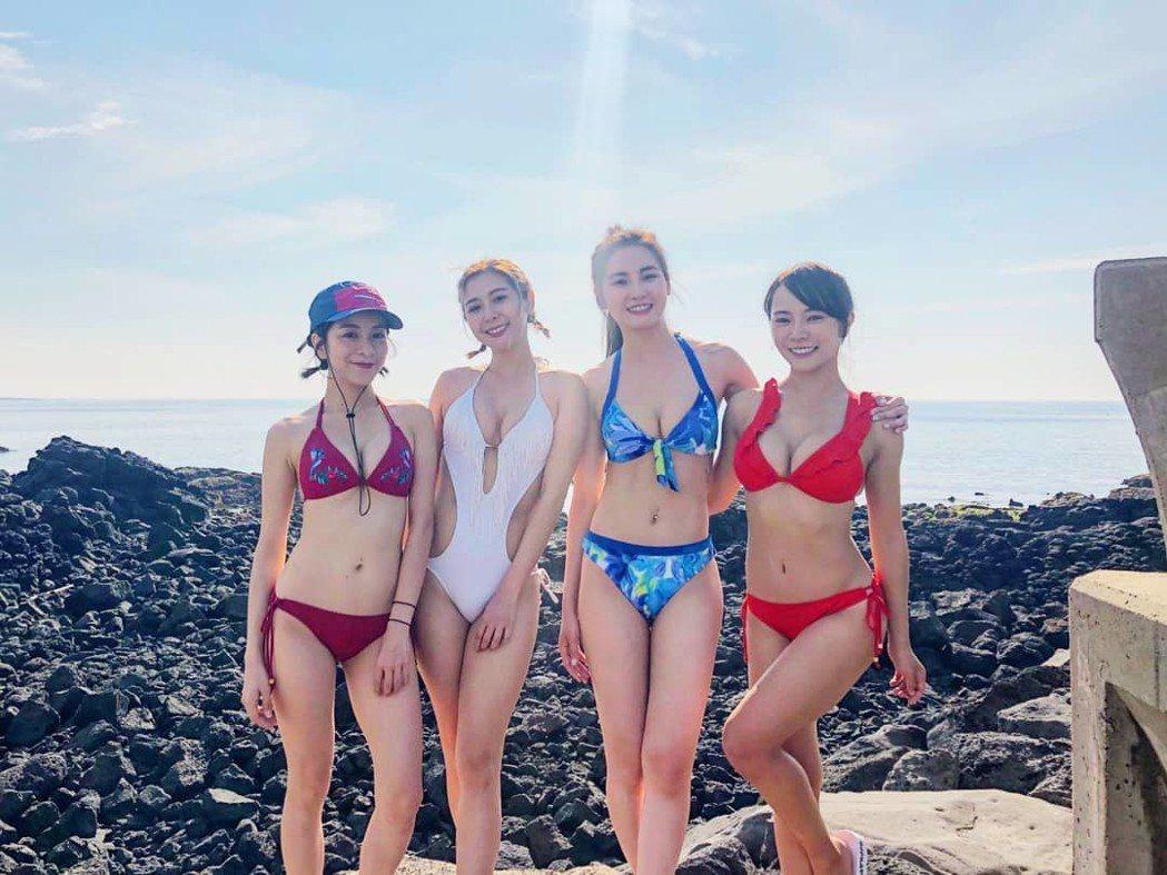 梁凱莉(左起)、Albee、舒子晨、巫苡萱。圖/擷自IG