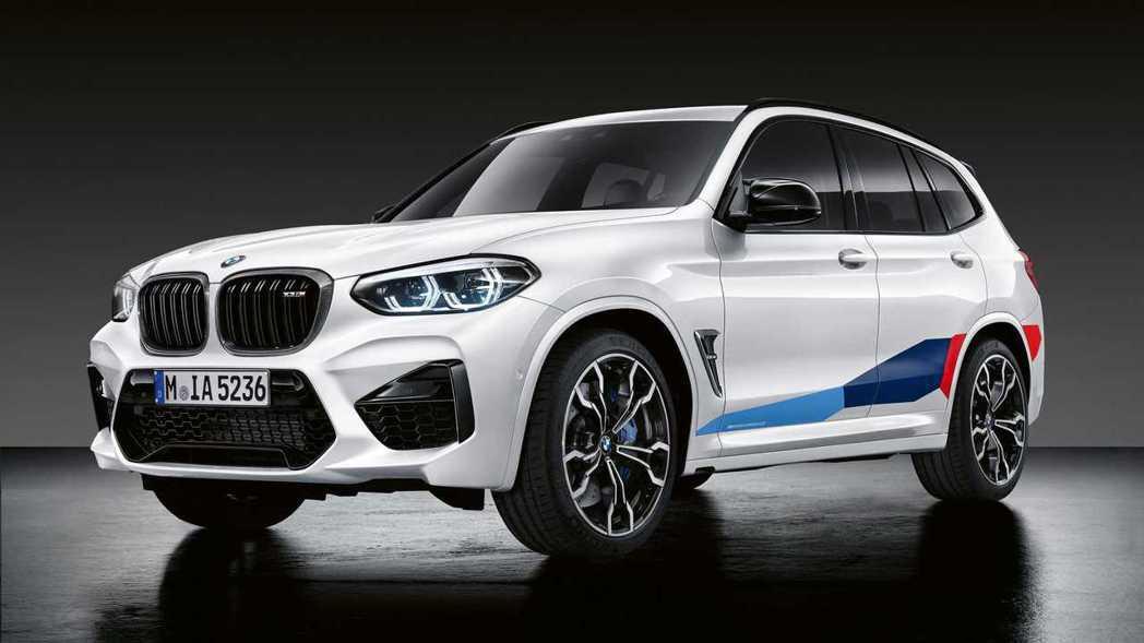 BMW X3 M披上M Performance套件後外觀相當兇狠。 摘自BMW