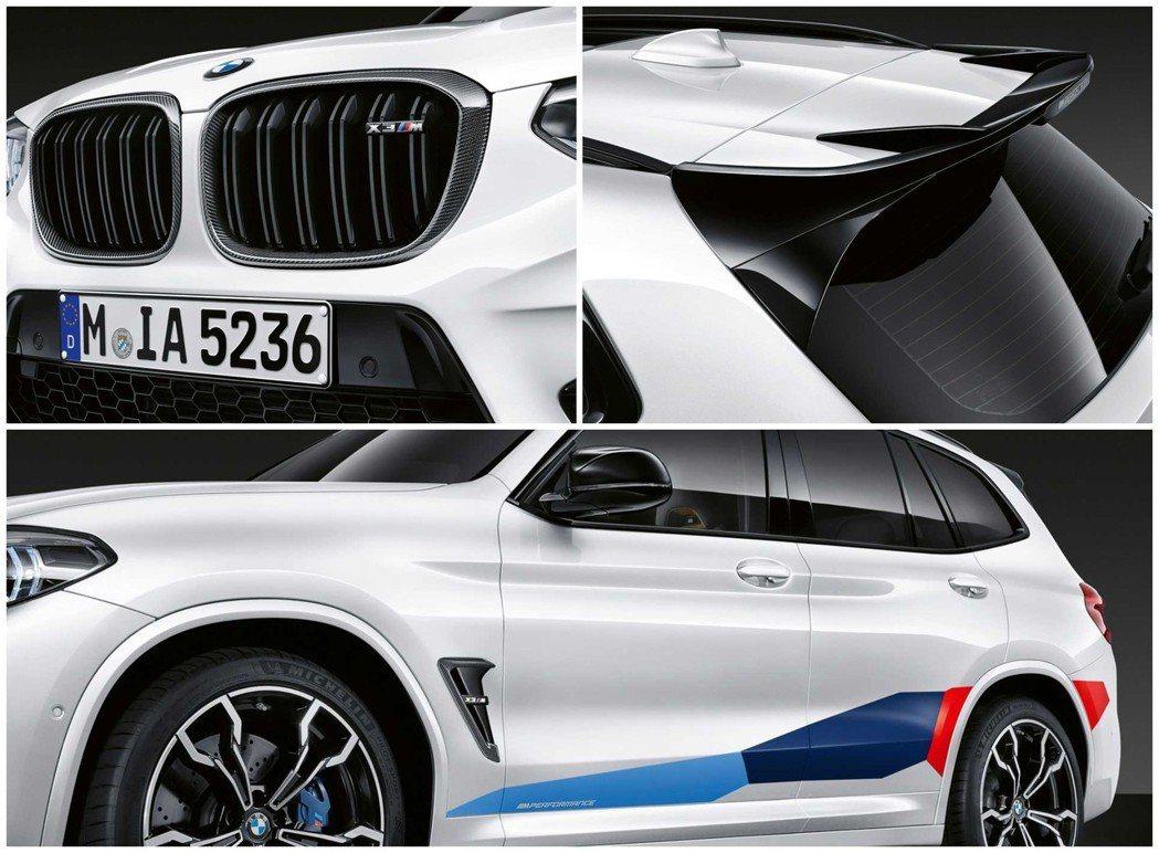 X3 M的M Performance套件附上一具高光澤的大尾翼。 摘自BMW