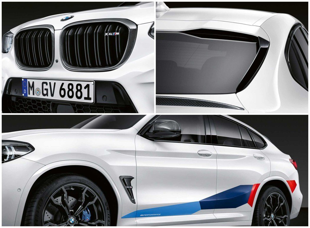 X4 M的M Performance尾翼就相對小巧了一點。 摘自BMW