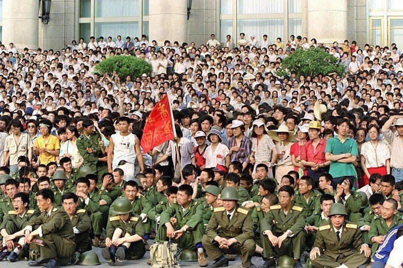 攝於1989年6月3日,北京天安門。 圖/法新社