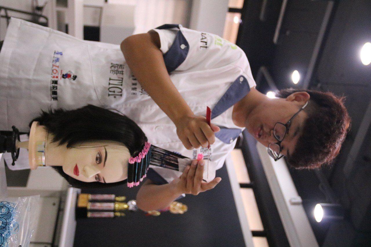 弘光科大美髮系男學生 參加國際比賽得冠軍