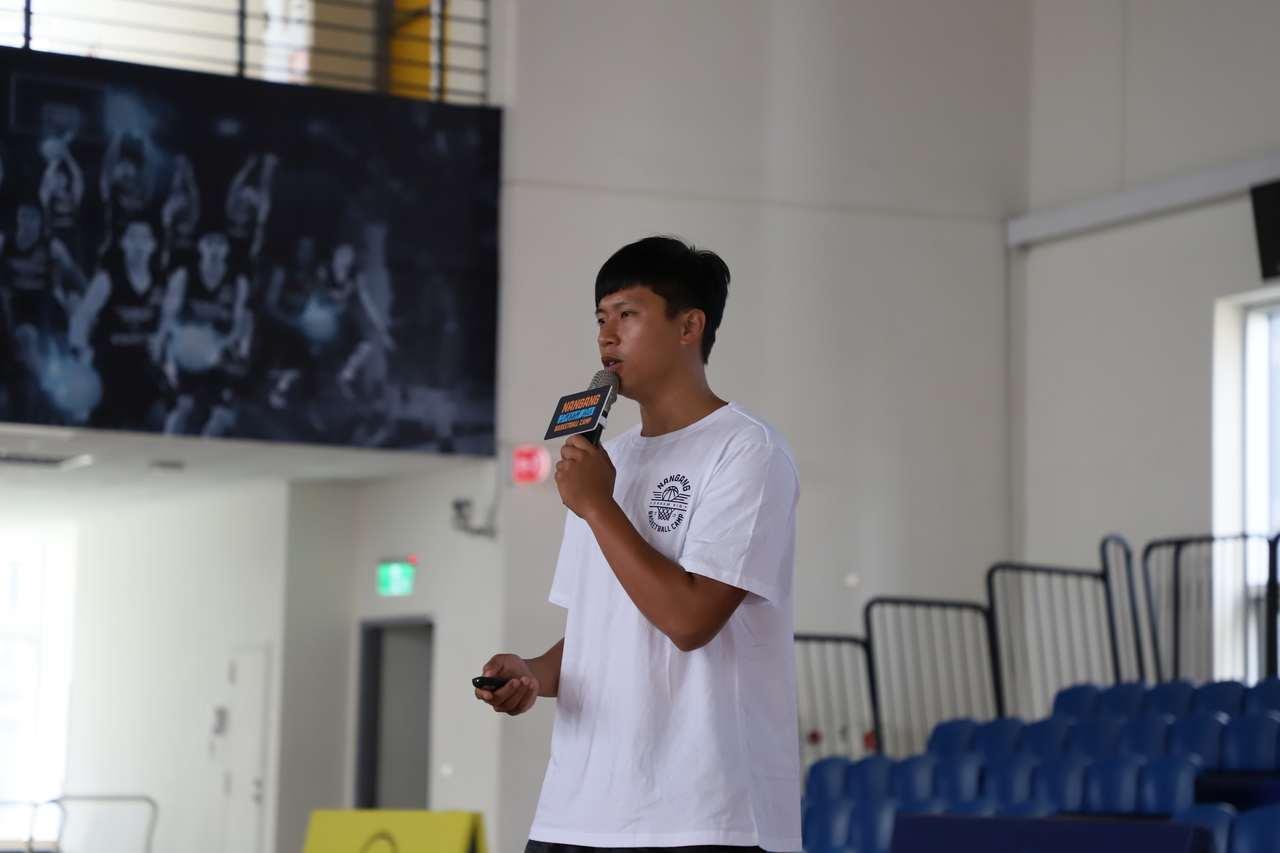 ABL寶島夢想家當家射手吳松蔚分享自身籃球故事。圖/台灣籃球發展協會