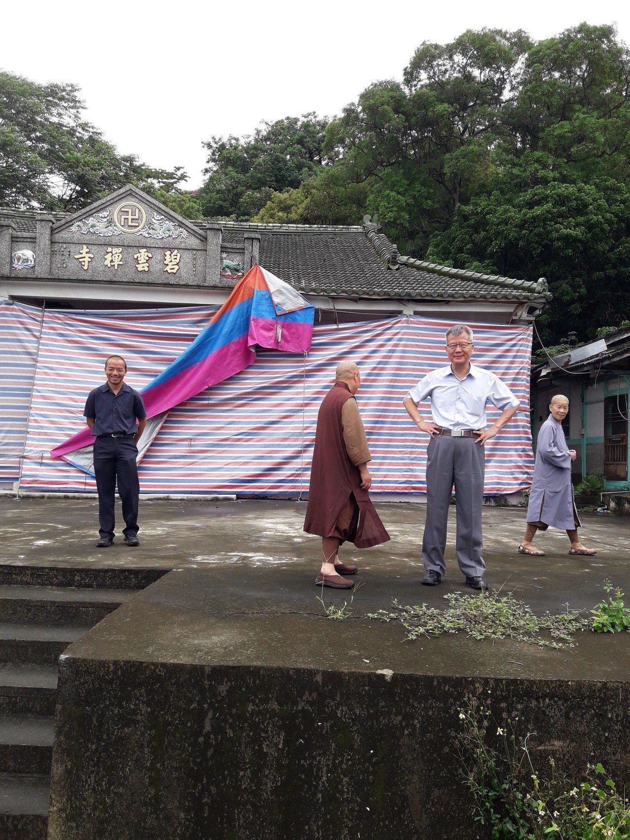 二水鄉碧雲禪寺遭法拍,行政執行署彰化分署本月5日將點交。記者林敬家/攝影