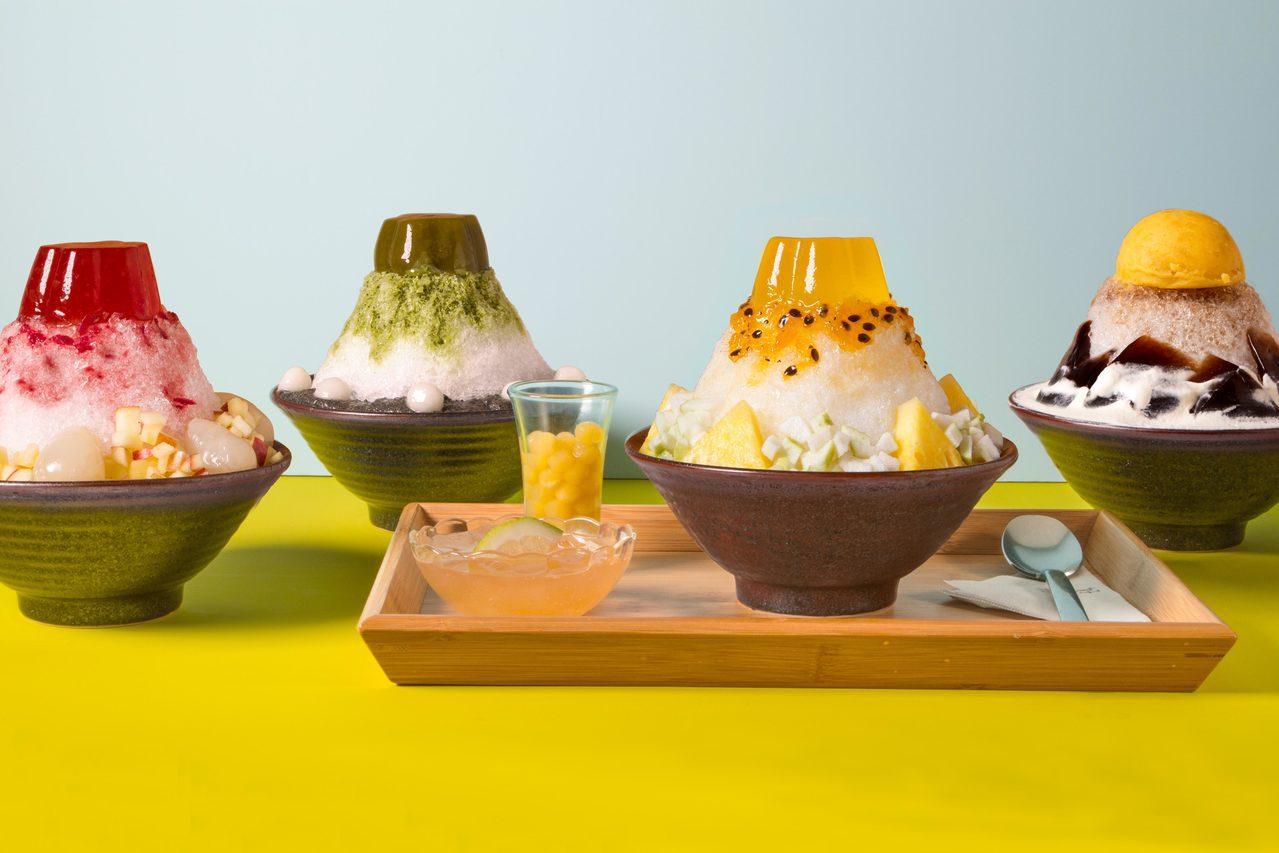 好丘四款山系剉冰,每款售價240元,信義店獨家販售。圖/好丘提供