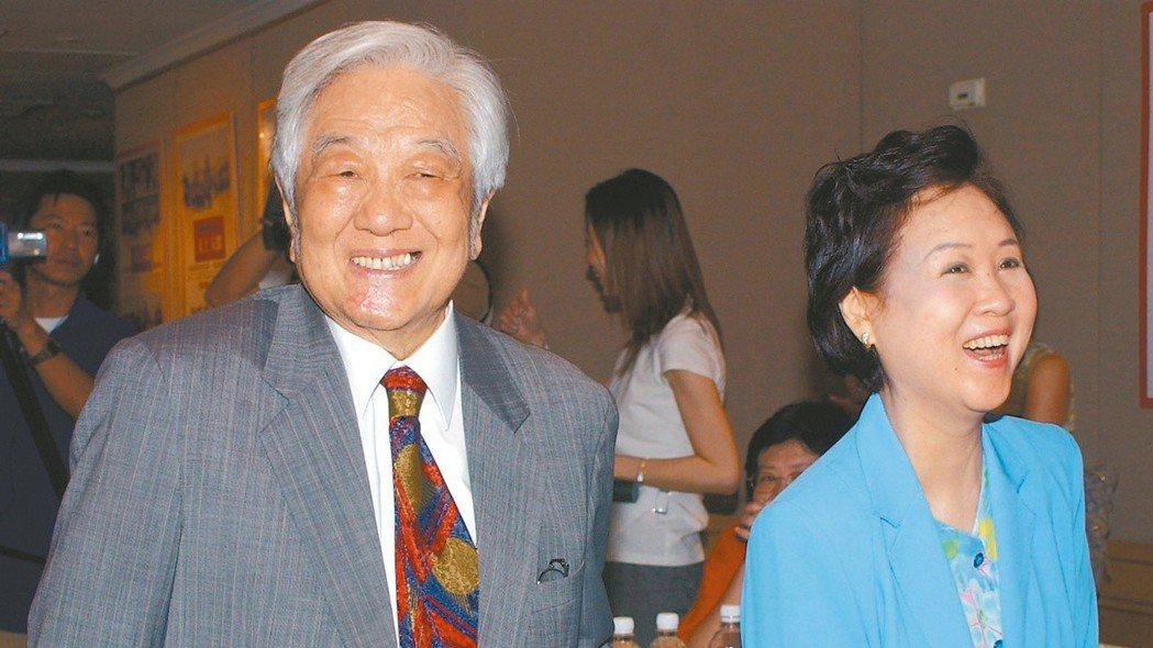 平鑫濤(左)、瓊瑤 報系資料照